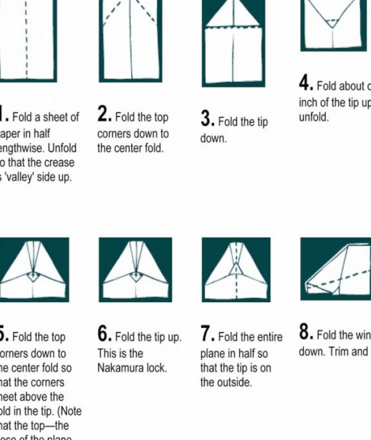 How to make a paper airplane jet high quality instructions pictures 1