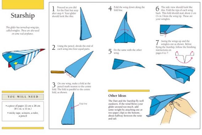 fold a paper helicopter with Paper Airplane Origami Folding Instructions With Step Tattoo on 12 Cool Paper Airplanes You Can Make Now as well Seconds 16 Window Cards Wenvelopes Blank moreover Airplane Crafts also Craft Ideas With Astrobrights Paper furthermore How To Make Paper Plane A4.