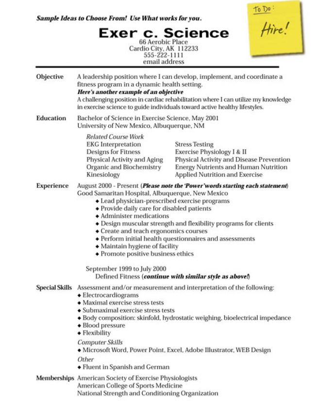 functional resume format exle