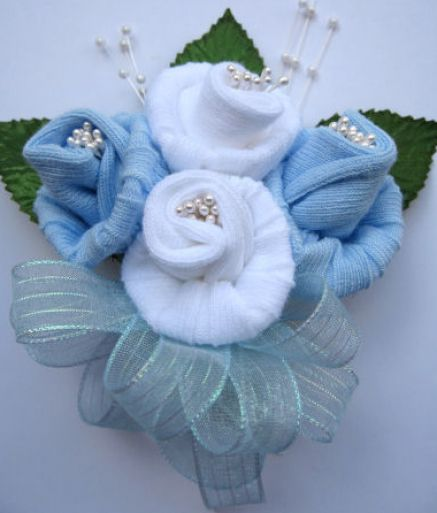 how to make a sock corsage pictures 1