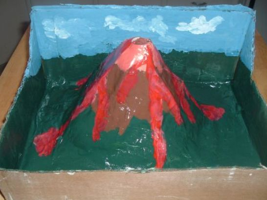how to make a volcano out of playdough 3