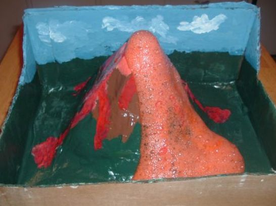 How to make a volcano project pictures 1