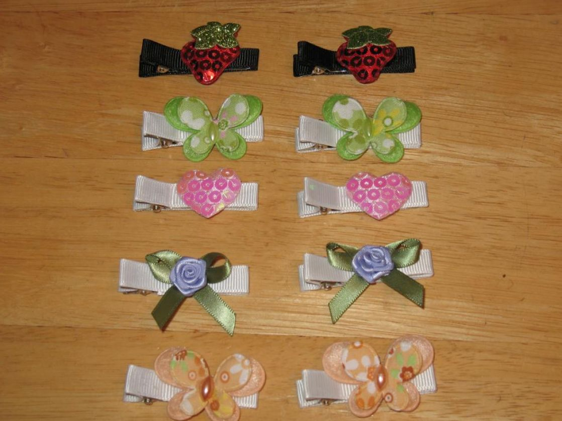 How to make hair clips for girls pictures 1