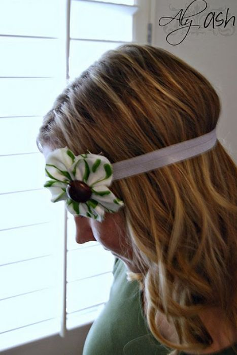 How to make hair flowers out of fabric pictures 3