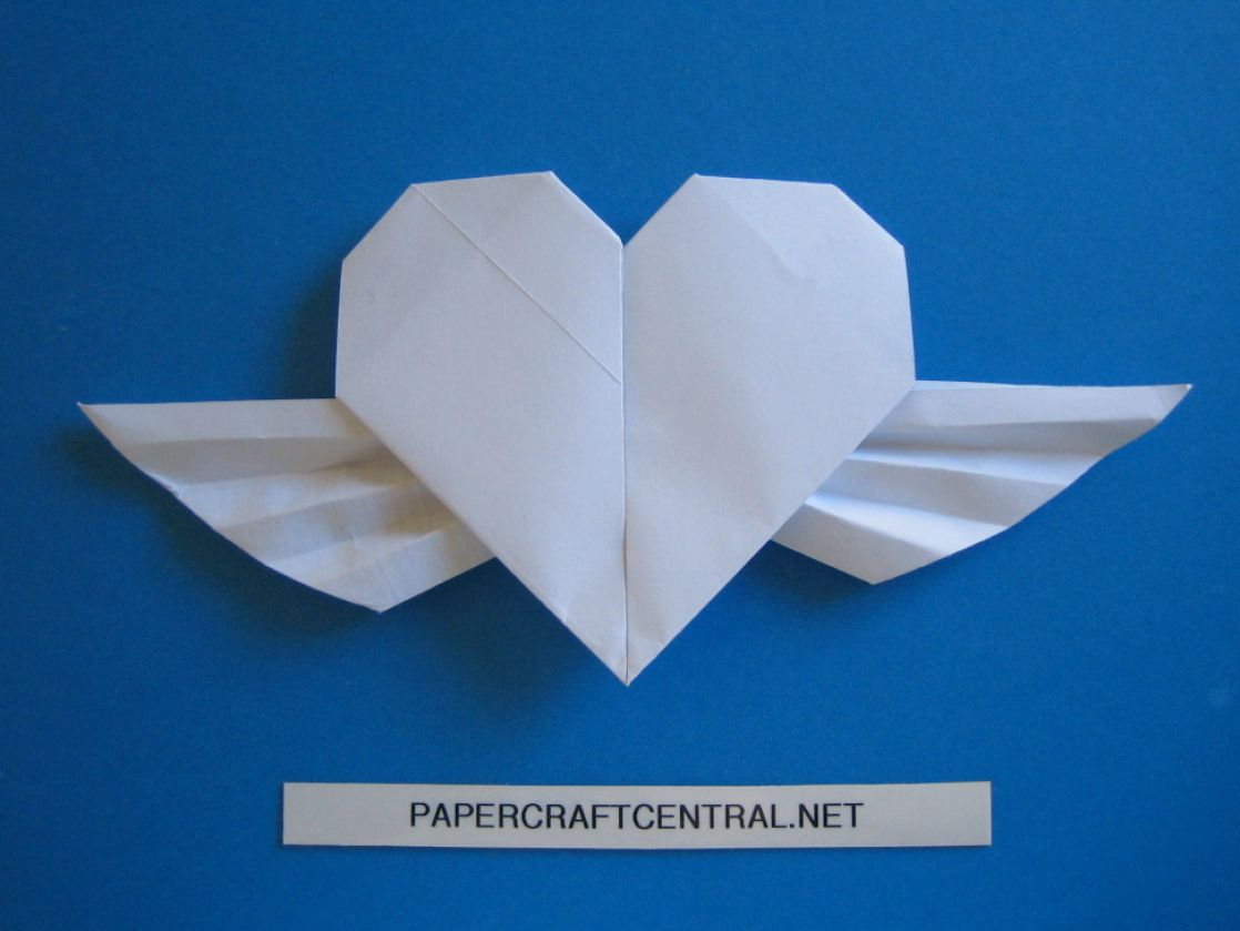 The gallery for --> How To Make Origami Heart With Wings - photo#34