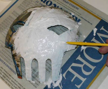 How to make paper mache masks pictures 2