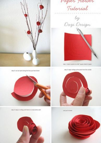 How to make paper roses with tissue pictures 2