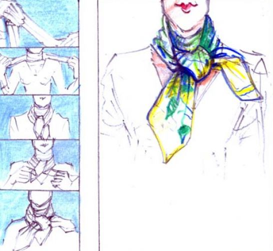 How to tie a scarf into a shirt pictures 2 How To Tie Scarf Into Shirt