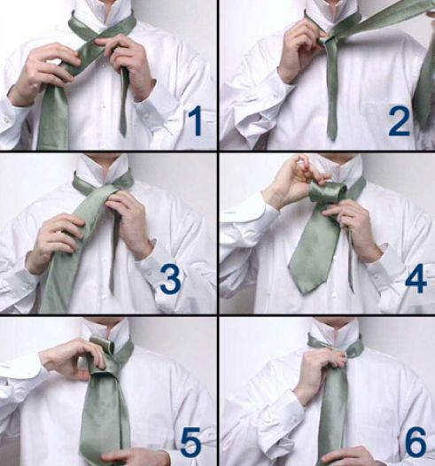 simple instructions on how to tie a tie