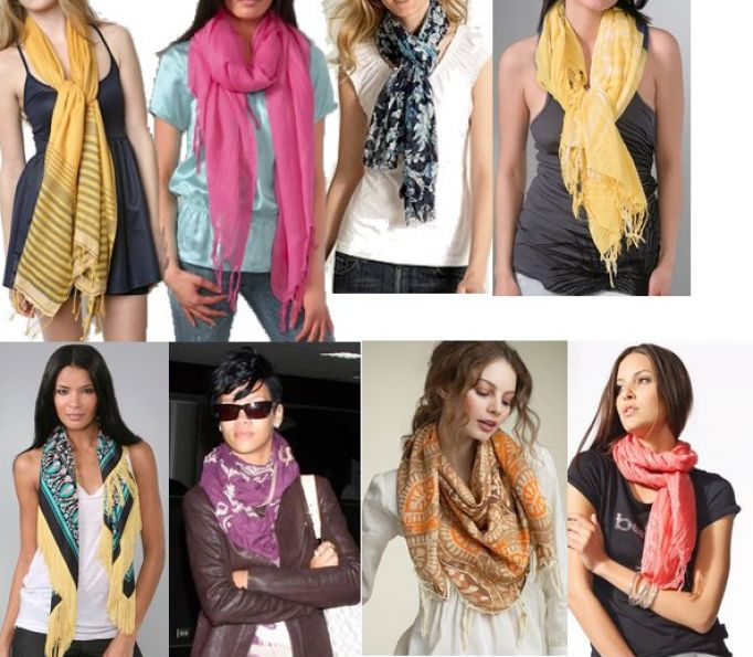 How to tie scarves for pictures 4 Book On How To Tie Women's Scarves