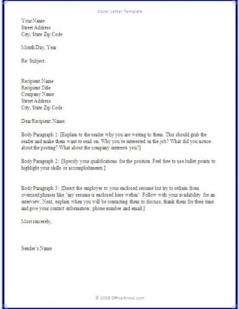 Writing a cover letter basics covering letter example for Examples on how to write a cover letter