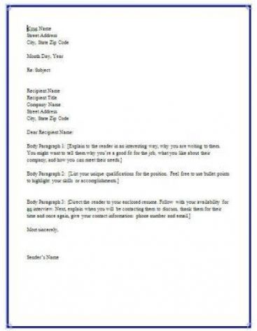 how to write a business letter format