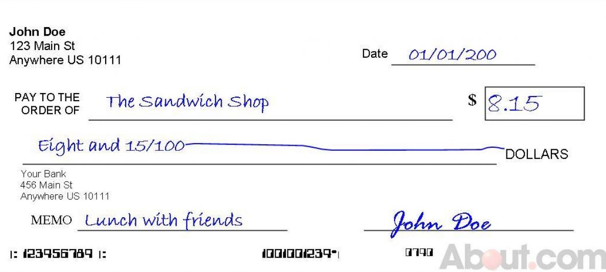 How to Write a Check to Petty Cash