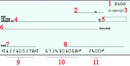 how to write checks with cents