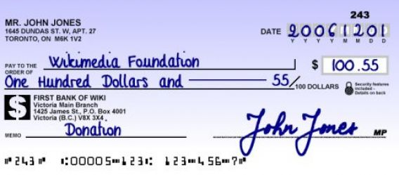write a check for cents