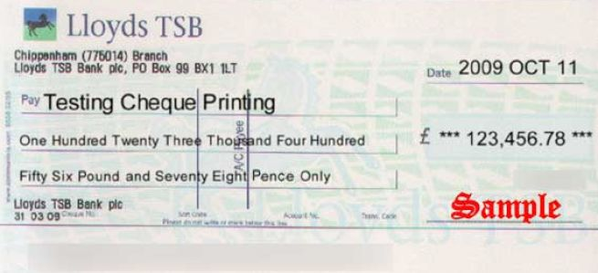 how to write a cheque lloyds tsb 1