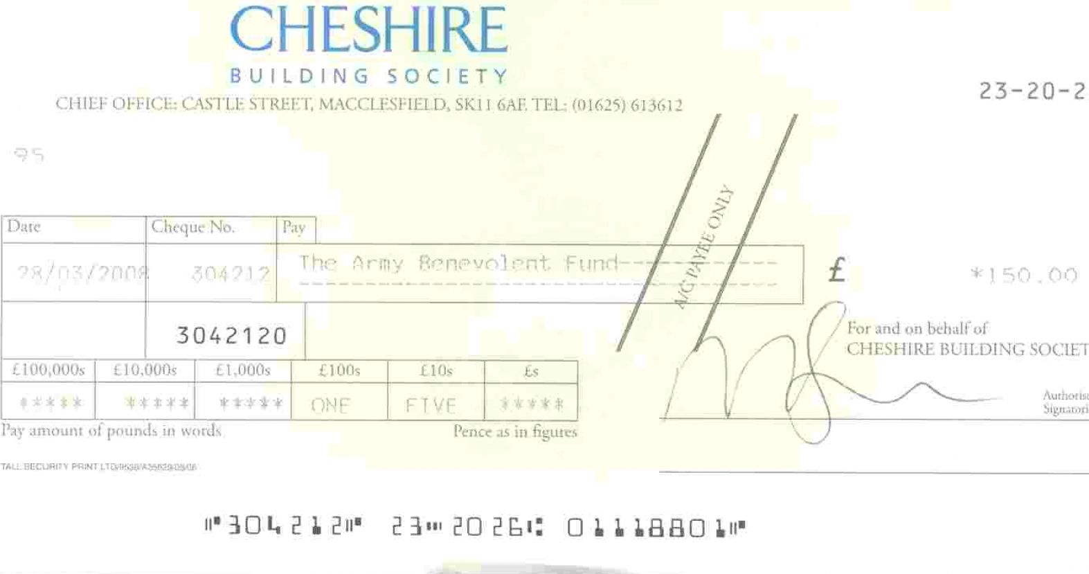 How to Write a British Cheque