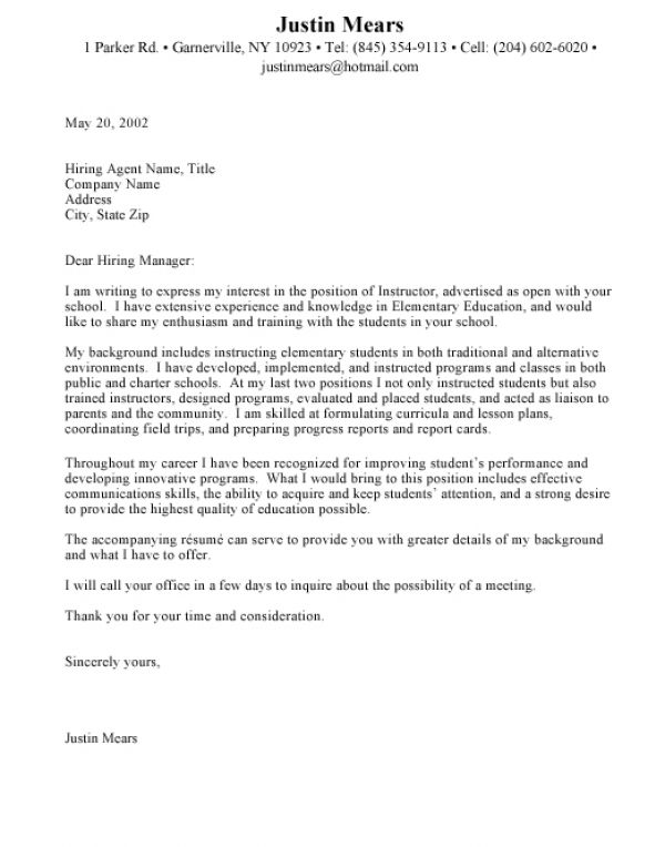 Sample cover letter how to write a cover letter education for How to wrie a cover letter