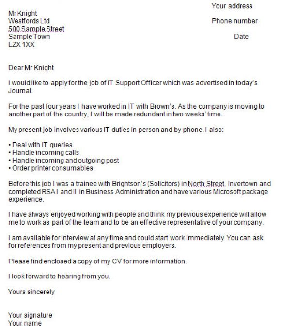 Writing a cover letter directgov covering letter example for How to prepare a covering letter
