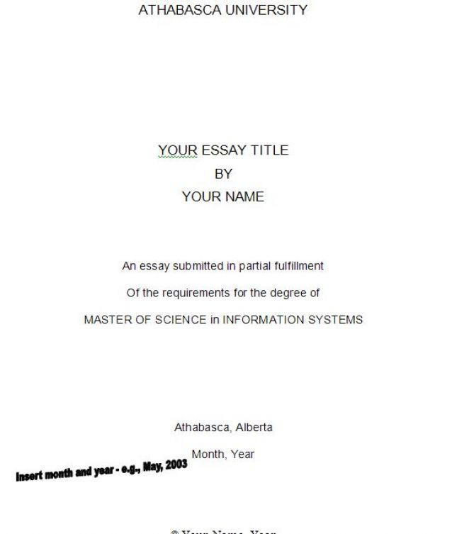 How to write a title page for an essay mla