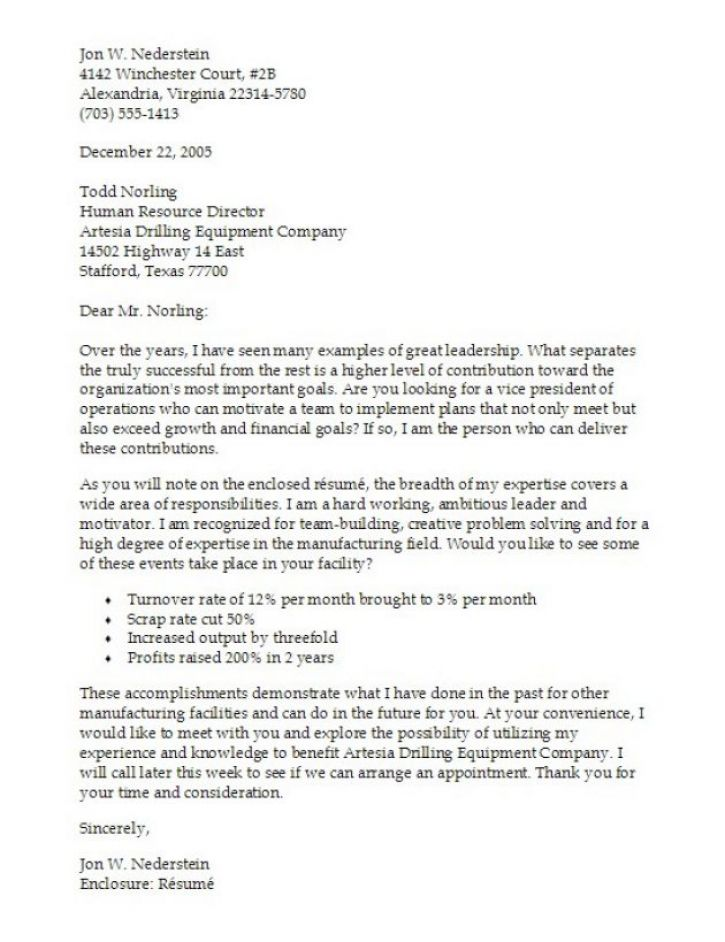 writing a cover letter for a curriculum vitae