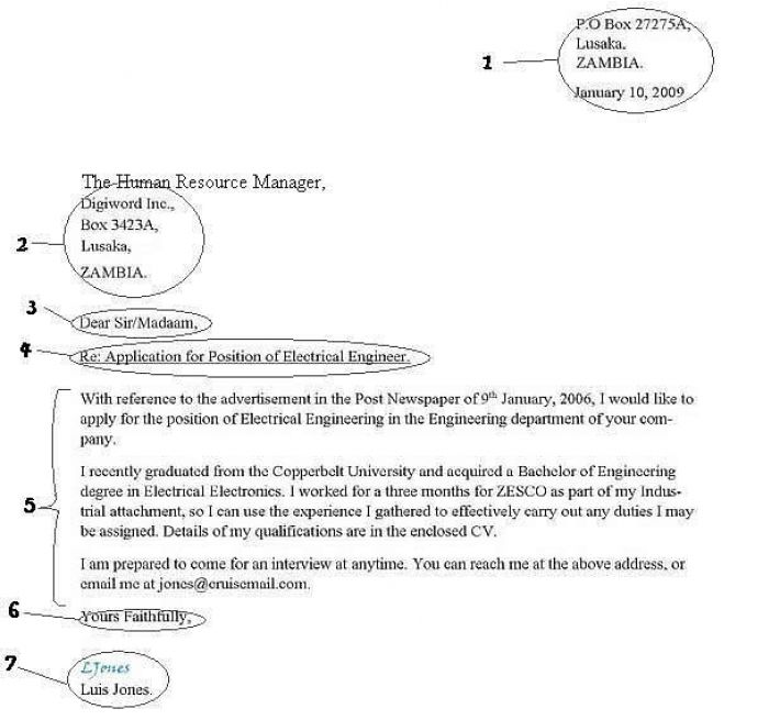 How to write a formal letter example pictures 1