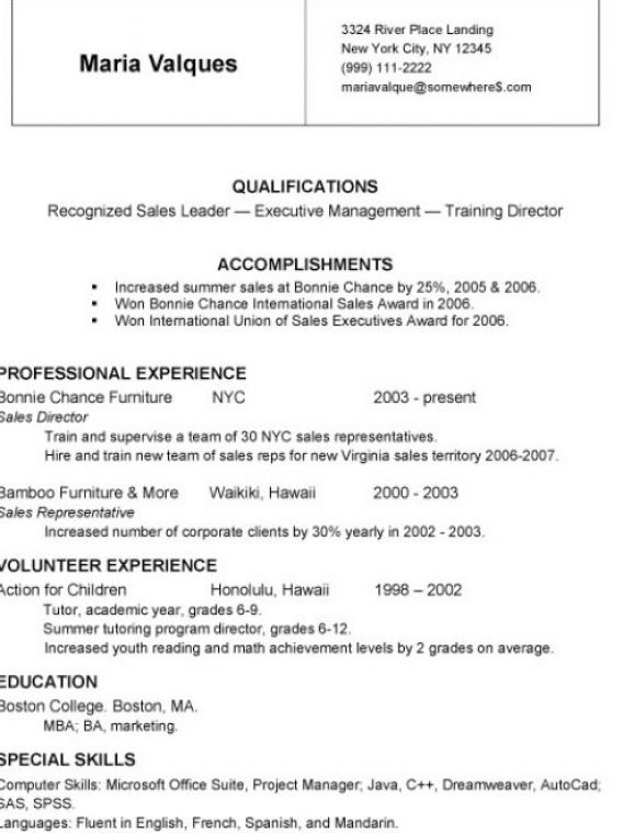 write simple resume