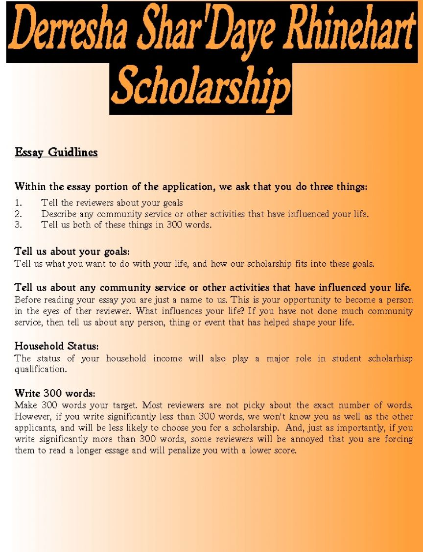 can am essay scholarship Tips for scholarship essays what topic(s) am i most interested in writing about what stories or examples from my life best relate to the topic.