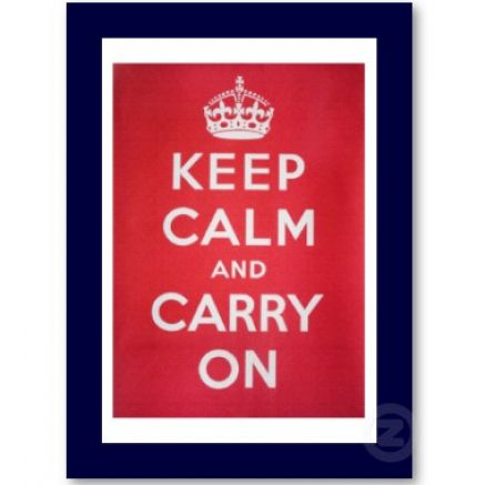 keep calm and carry on crown symbol 3