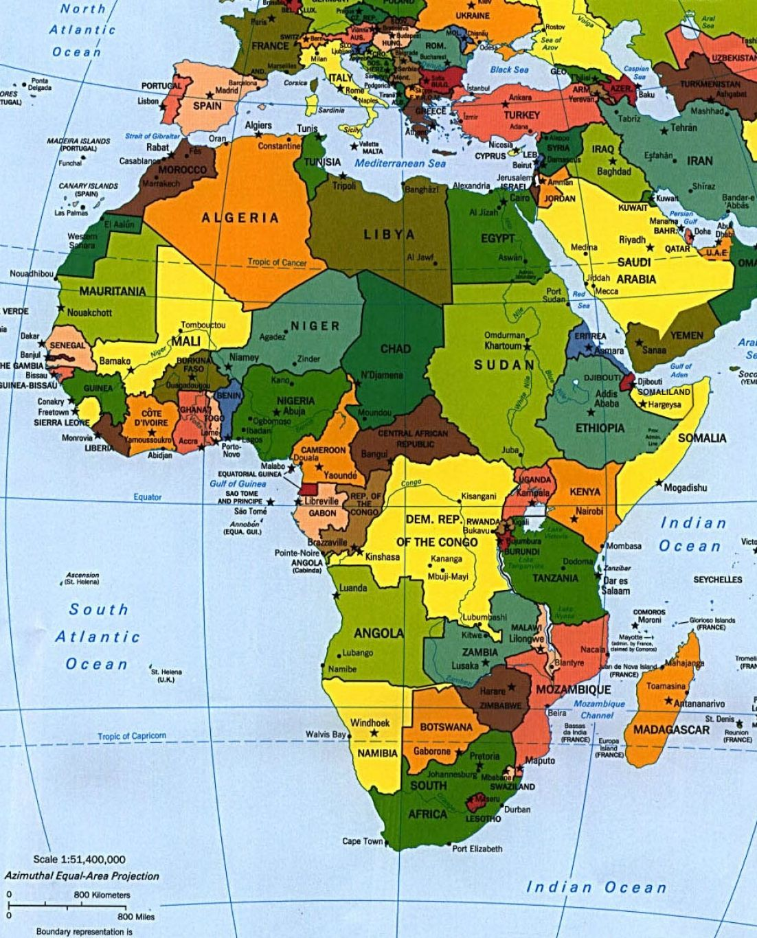 Labeled Map Of Africa The Image Kid Has It