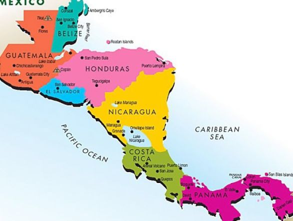 central America map What Where Central South America Pint