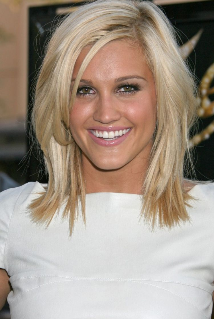 Layered hairstyles with side swept bangs for medium length pictures 1