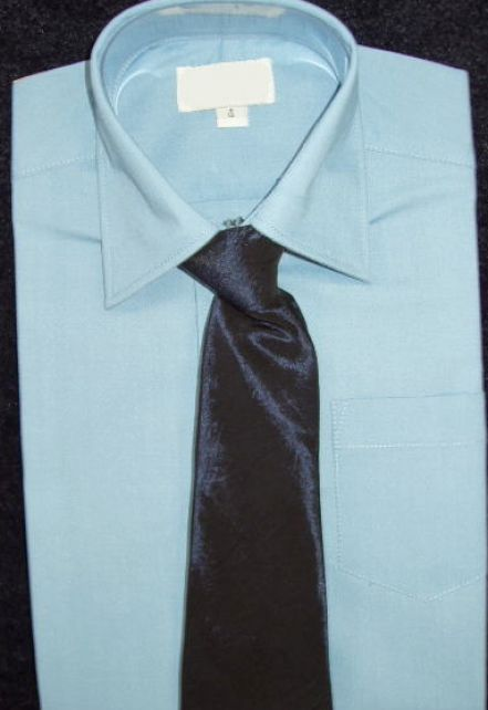 Light Blue Dress Shirt With Tie