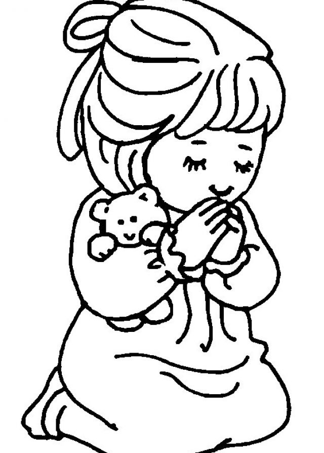 coloring pages of little girl - photo#18