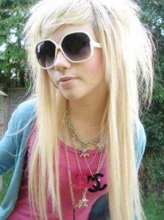 long blonde emo hairstyles. Hairstyles hair long blonde
