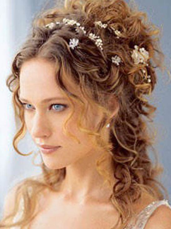 Long curly hair wedding styles pictures 4