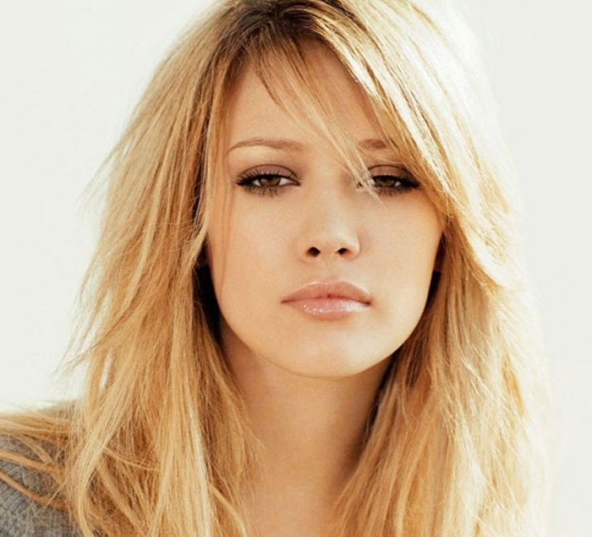 Long hairstyles with layers and side swept bangs pictures 1