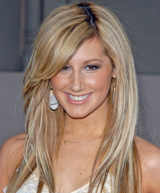 Long Brown Hairstyles With Side Bangs