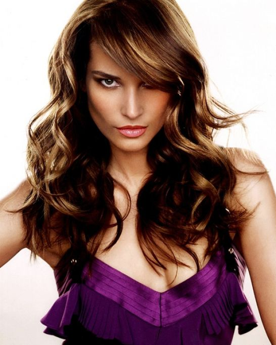 Curly Bangs with Long Hair Photos
