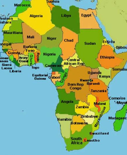 Map of africa countries only pictures 1