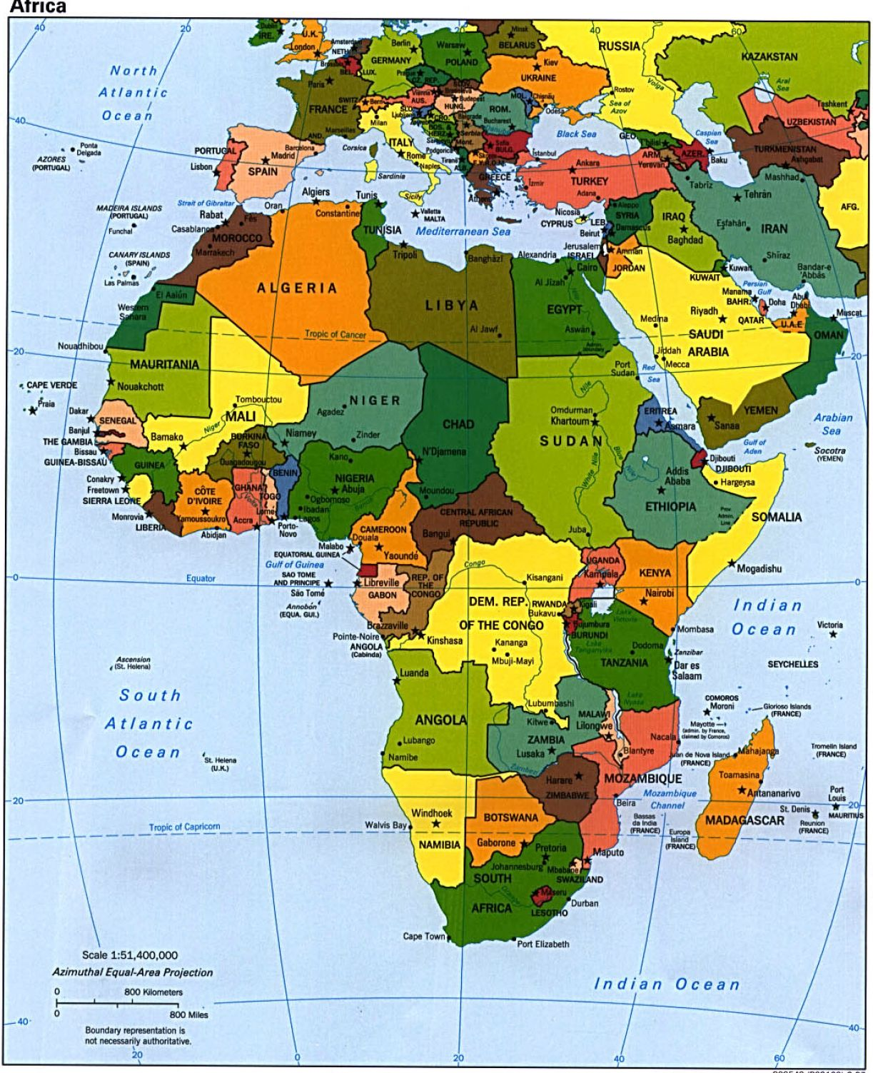 Africa Map Game 58