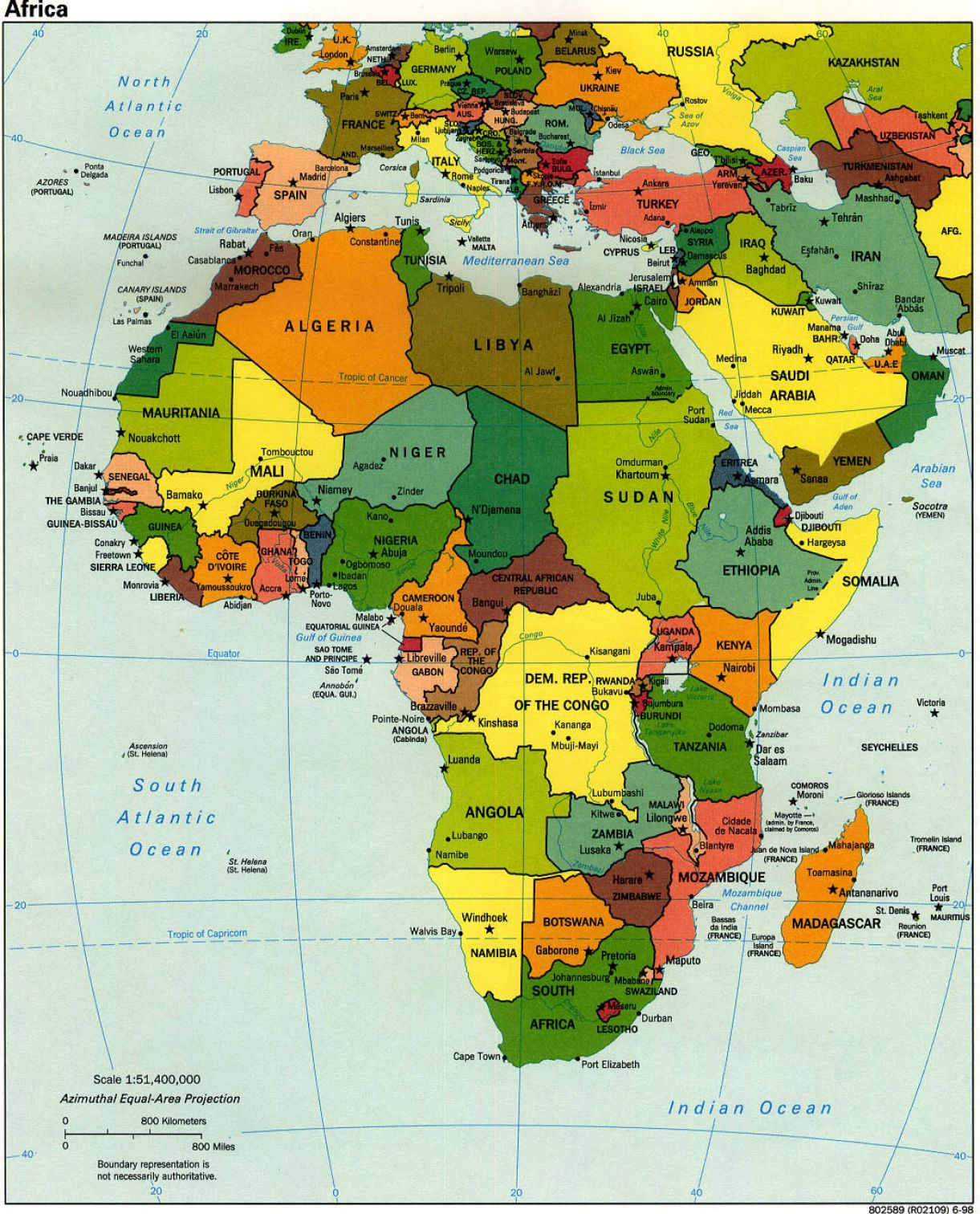 Latest Map Of Africa