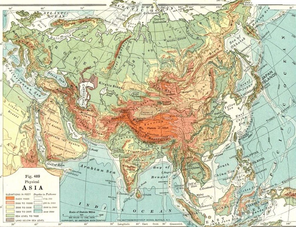 Map Of Asia Mountains.Asia Mountains Map