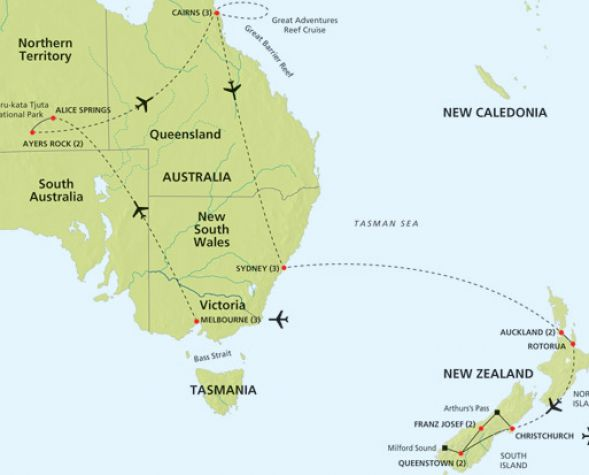 Map Of Australia And New Zealand Pictures to Pin on Pinterest PinsDaddy