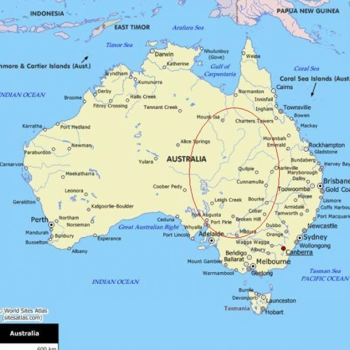 Map Of Australia With Cities Pictures to