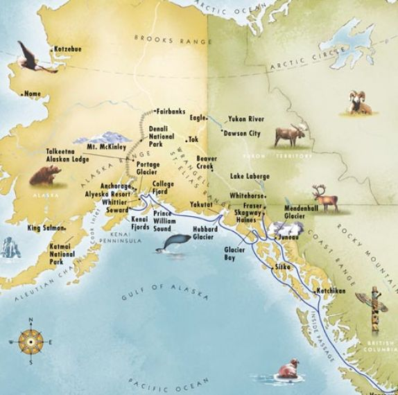Canada Alaska Maps Pictures To Pin On Pinterest