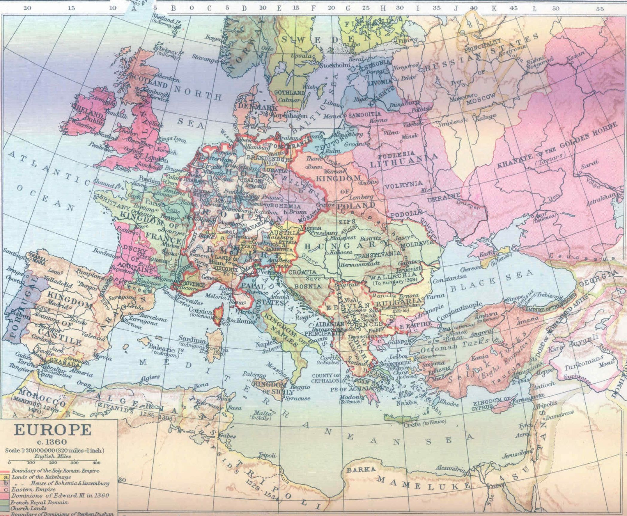 Map of europe and asia minor pictures 3