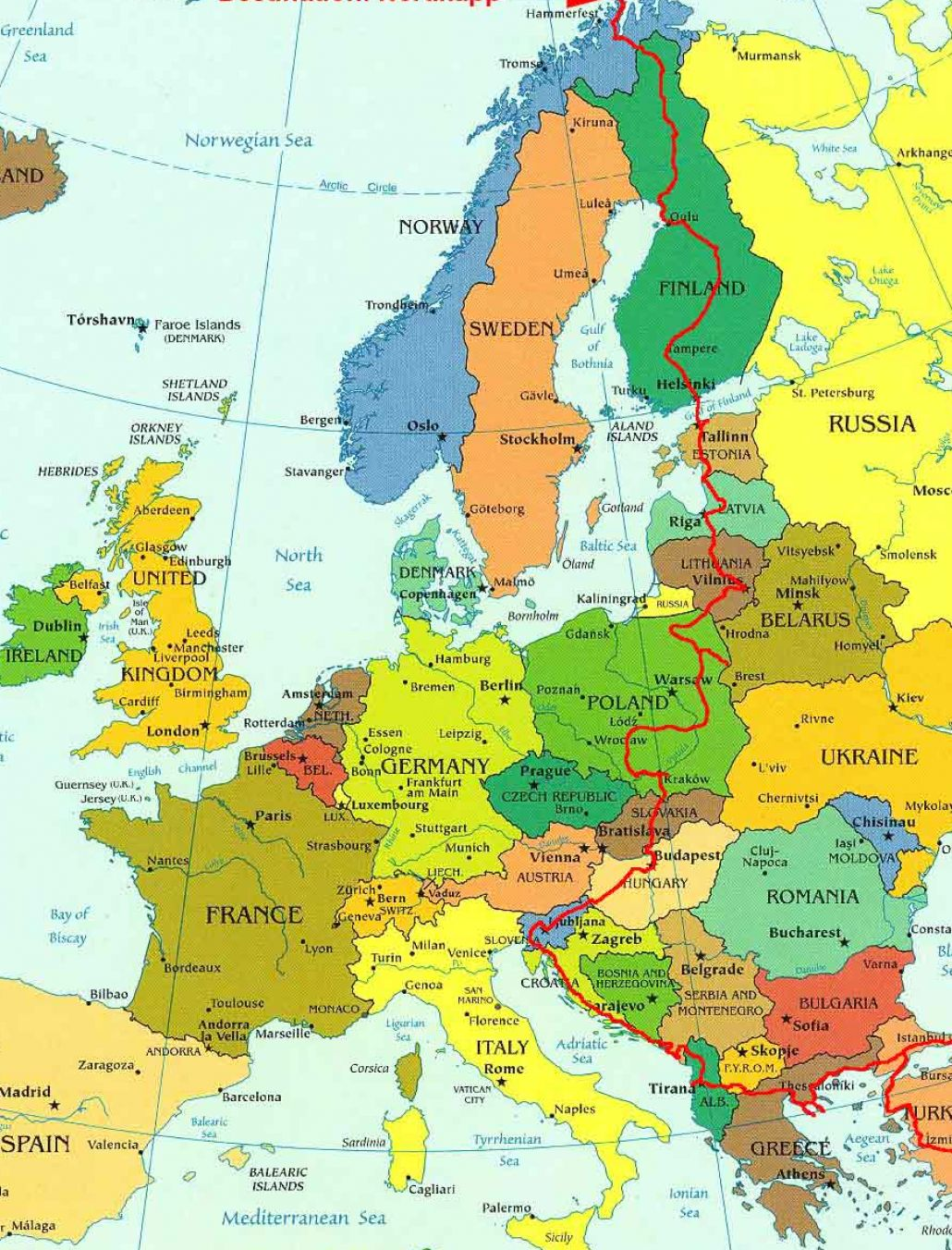 Map Of Middle East And Europe The Image Kid Has It