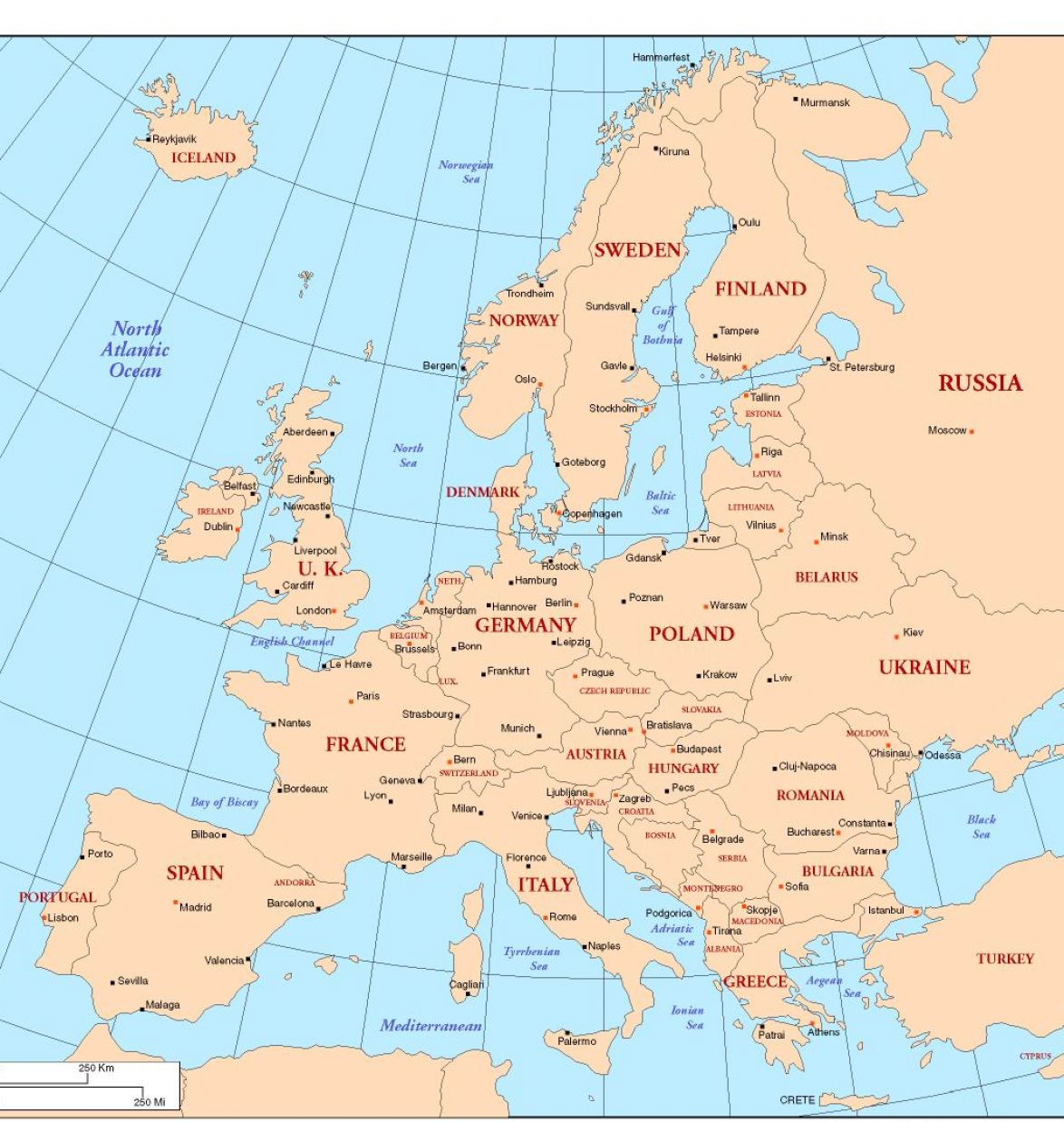 Europe Countries And Capitals Related Keywords & Suggestions - Europe ...
