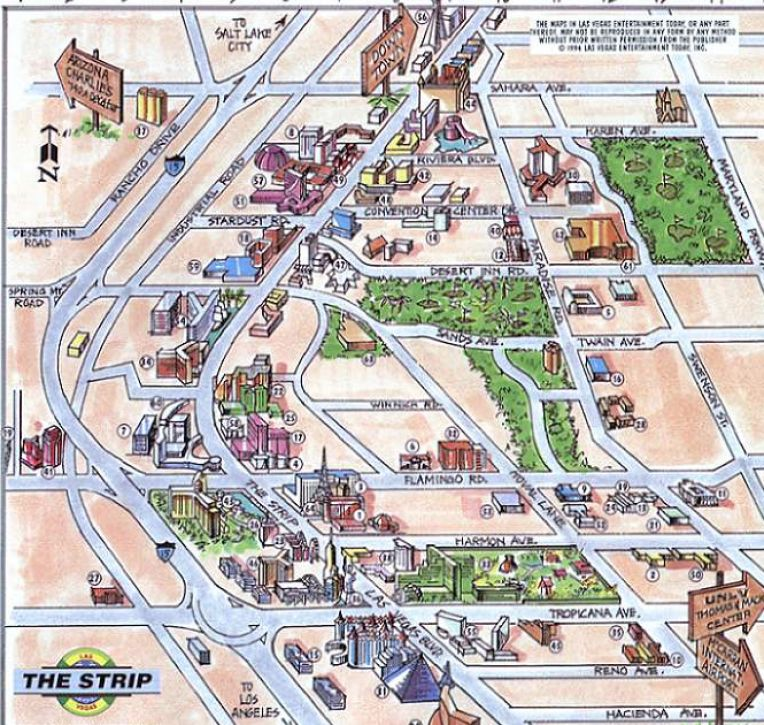 vegas hotel map. Las vegas hotels map
